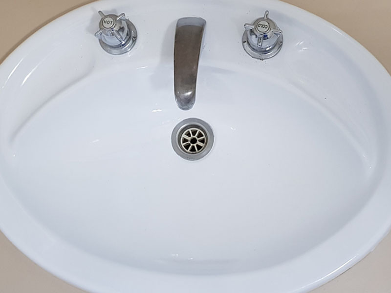 basin after
